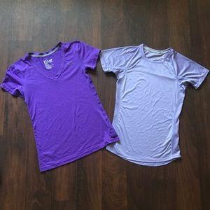 Nike bundle of two short sleeve tops, XS